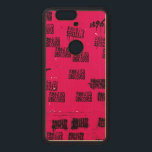 """Hot Pink Exotic Hip One-of-a-kind Wood Nexus 6P Case<br><div class=""""desc"""">People write contact info on public walls as a form of advertisement in China. I thought that would be a cool and funny idea to add your name to the design to make you as part of the image. If you would like to have your name translated into Chinese and...</div>"""