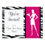 Hot Pink Fashion Party Invitation