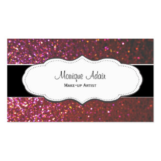 Hot Pink Faux Glitter Business Cards