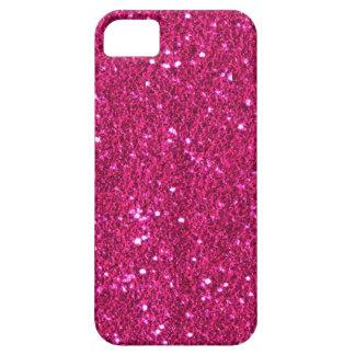 Hot Pink Faux Glitter Case-Mate iPhone 5 Case