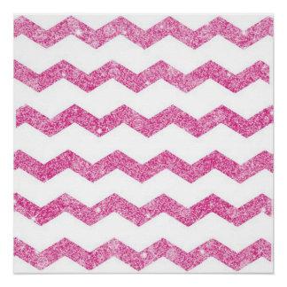 hot pink,faux glitter,girly,teen,chevron,zigzag,pa poster