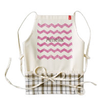 hot pink,faux glitter,girly,teen,chevron,zigzag,pa zazzle HEART apron