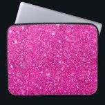 "Hot Pink Faux Glitter Shining Pattern Girly Laptop Sleeve<br><div class=""desc"">Hot Pink Faux Glitter Shining Pattern Girly</div>"
