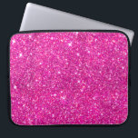 "Hot Pink Faux Glitter Shining Pattern Girly Laptop Sleeve<br><div class=""desc"">Hot Pink Faux Glitter Shining Pattern Girly</div>"