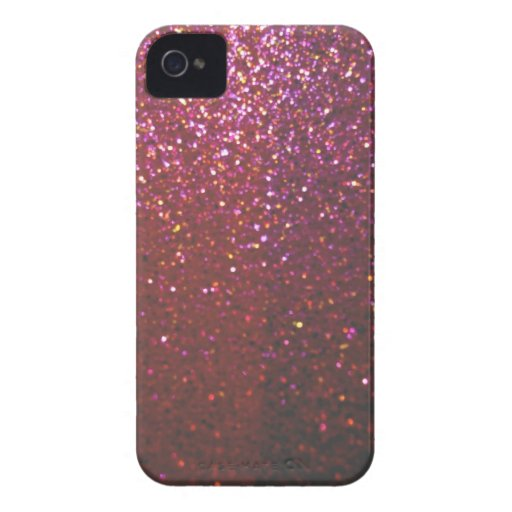 Hot pink Faux Sparkles & Glitter - Glam & Girly Case-Mate iPhone 4 Cases