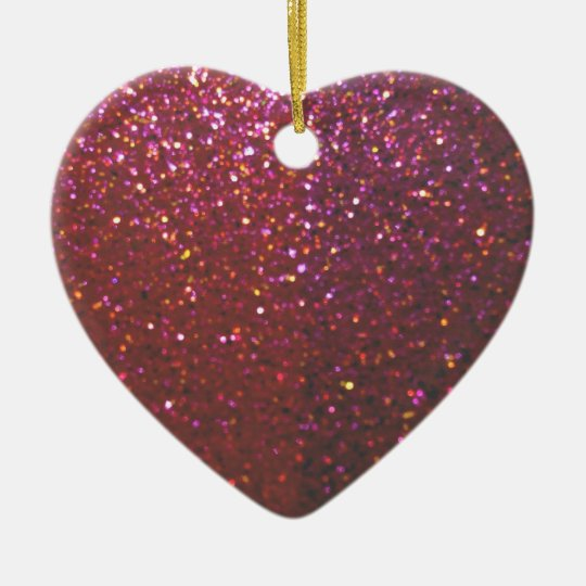 Hot pink faux Sparkles & Glitter - Glam & Girly Ceramic Ornament