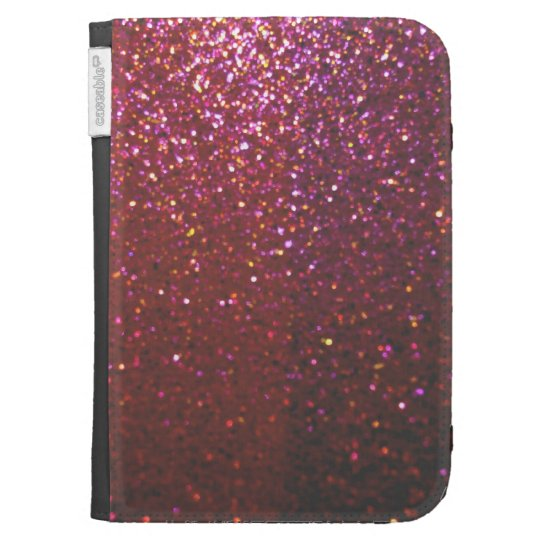 Hot pink Faux Sparkles & Glitter - Glam & Girly Kindle Keyboard Case