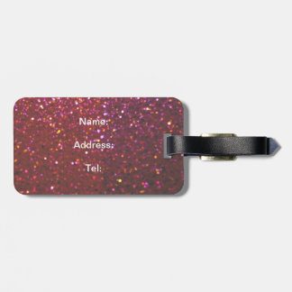 Hot pink Faux Sparkles & Glitter - Glam & Girly Tags For Bags