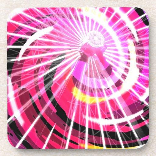 Hot Pink Ferris Wheel Beverage Coaster