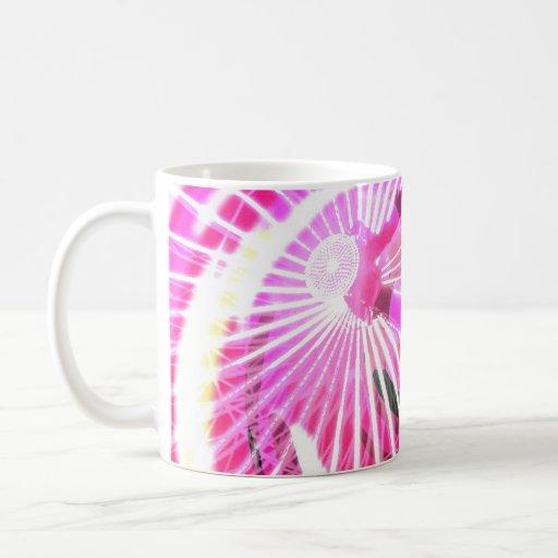Hot Pink Ferris Wheel Coffee Mug