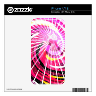 Hot Pink Ferris Wheel Decal For The iPhone 4S