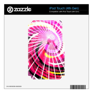 Hot Pink Ferris Wheel iPod Touch 4G Decals