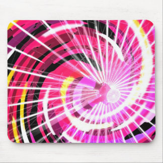 Hot Pink Ferris Wheel Mouse Pads