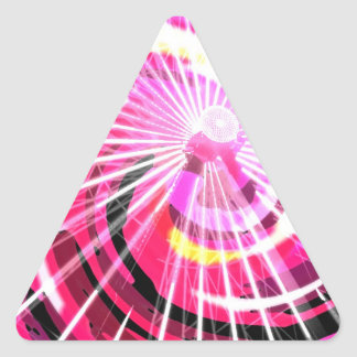 Hot Pink Ferris Wheel Triangle Sticker