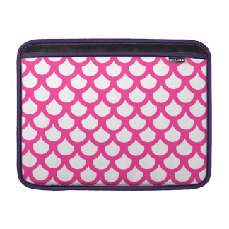 Hot Pink Fish Scale 1 MacBook Air Sleeve