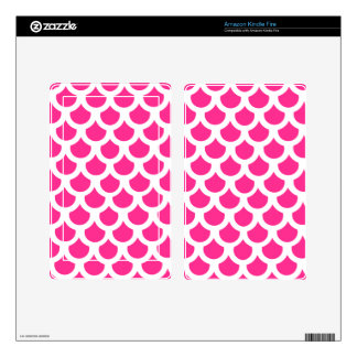 Hot Pink Fish Scale 2 Decal For Kindle Fire
