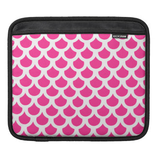 Hot Pink Fish Scale 2 Sleeve For iPads
