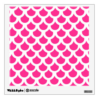 Hot Pink Fish Scale 2 Wall Sticker