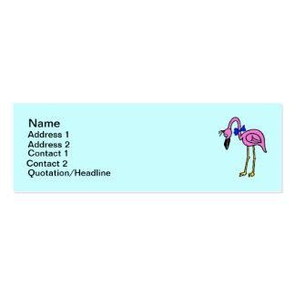 Hot Pink  Flamingo Bird Business Card
