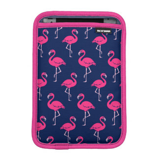 Hot Pink Flamingo Pattern Sleeve For iPad Mini
