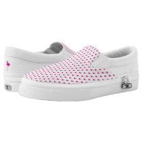 Hot Pink Flamingo Pattern Slip-On Sneakers