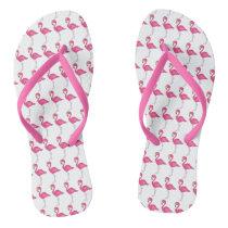 Hot Pink Flamingo Tropical Island Beach Bird Print Flip Flops