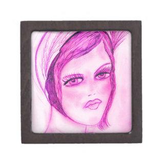 Hot Pink Flapper Jewelry Box