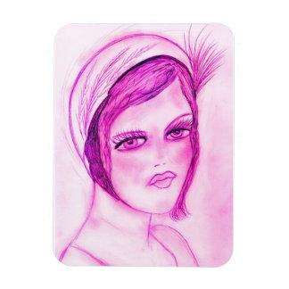 hot pink flapper magnet