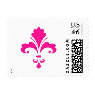 Hot Pink Fleur-de-lis Stamp