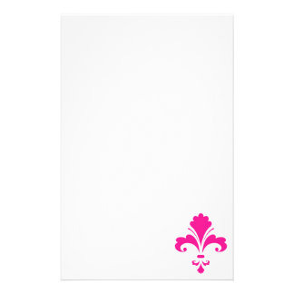Hot Pink Fleur-de-lis Stationery
