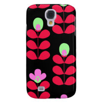 hot pink floral 3 casing galaxy s4 case