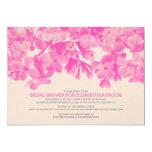 Hot Pink Floral Bridal Shower Invitations Invitations