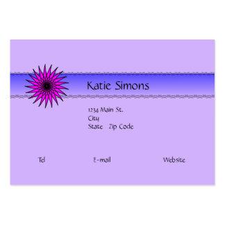 Hot Pink Floral Design Business Card