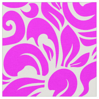 Hot Pink Floral Fabric