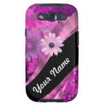 Hot pink floral galaxy SIII case