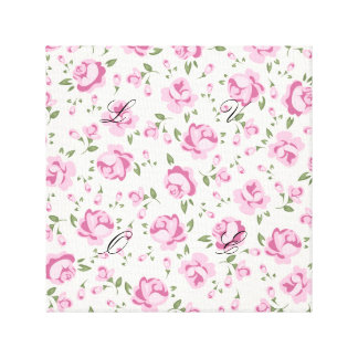 Hot pink,floral,girly,trendy,vintage,pattern,cute, canvas print