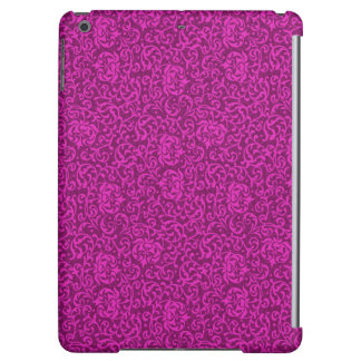 Hot Pink Floral Renaissance Damask iPad Air Covers