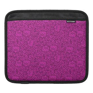 Hot Pink Floral Renaissance Damask iPad Sleeve