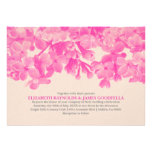 Hot Pink Floral Wedding Invitations Personalized Invites