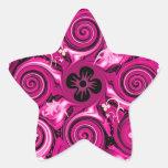 Hot Pink Floralia Star Star Sticker