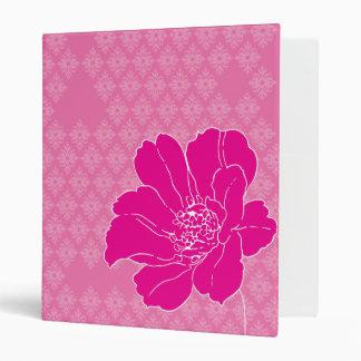 Hot pink flower binder