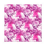 Hot Pink Flower Bouquet in Vase Collage Stretched Canvas Prints