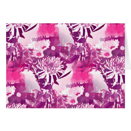 Hot Pink Flower Bouquet in Vase Collage Card