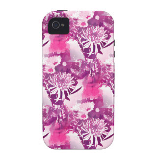 Hot Pink Flower Bouquet in Vase Collage iPhone 4/4S Cover