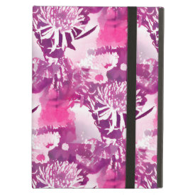 Hot Pink Flower Bouquet in Vase Collage iPad Folio Cases