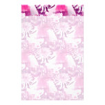 Hot Pink Flower Bouquet in Vase Collage Custom Stationery