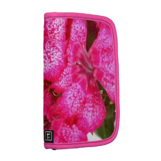 Hot Pink Flower Folio Planners
