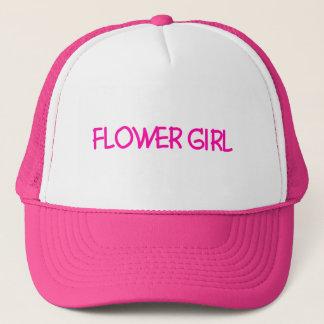 Hot Pink Flower Girl Trucker Hat
