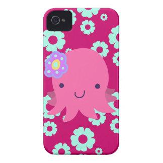 Hot Pink Flower Octopus iPhone 4 Case-Mate Case