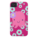 Hot Pink Flower Octopus iPhone 4 Cover